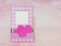 Box with hearts Stock Image