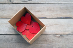 The Box of Hearts Stock Image