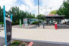 Box Hill tram terminus in Melbourne, Australia Stock Photo