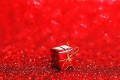 Box with holiday gift Royalty Free Stock Photo