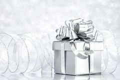 Box with holiday gift Royalty Free Stock Image