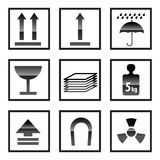 Box Icon and Signs Stock Images