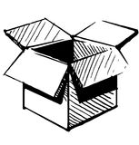 Box icon. Sketch vector illustration. This is file of EPS8 format Stock Photo