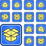Box icons Stock Photo