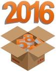 2016 box Stock Image