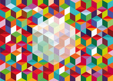 Box illustration. A colorful box composition background Stock Photo