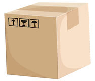 A box. Illustration of a box on a white background Royalty Free Stock Photography