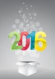 2016 box Royalty Free Stock Photography