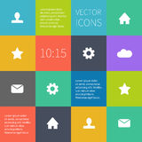 Box infographic or user interface Stock Image