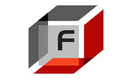 Box Initial F Royalty Free Stock Image