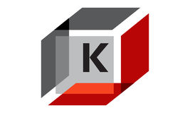 Box Initial K Royalty Free Stock Photography