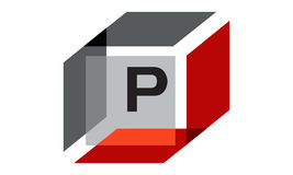 Box Initial P Royalty Free Stock Photo