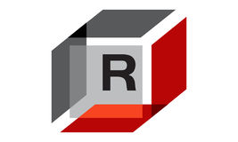 Box Initial R Royalty Free Stock Photos