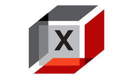 Box Initial X Royalty Free Stock Photography