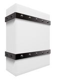 Box with iron bands Royalty Free Stock Photos