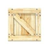 box isolated wooden Вид спереди 3d представляют Стоковые Фото