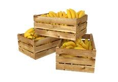 box isolated wooden Вполне плодоовощ бананов белизна изолированная предпосылкой бесплатная иллюстрация