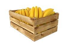 box isolated wooden Вполне плодоовощ бананов белизна изолированная предпосылкой иллюстрация вектора