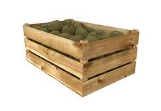 box isolated wooden Вполне плодоовощ кивиа белизна изолированная предпосылкой бесплатная иллюстрация