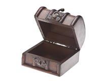 box isolated wooden Royaltyfria Bilder