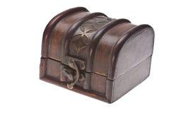 box isolated wooden Fotografering för Bildbyråer