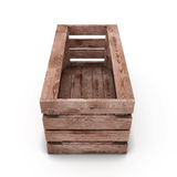box isolated wooden Стоковое Изображение