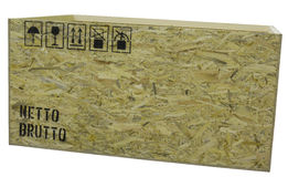 box isolated wooden Arkivfoton