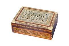 box isolated wooden Royaltyfri Fotografi