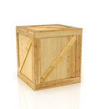 box isolated wooden 库存照片