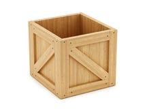 box isolated wooden Стоковая Фотография RF