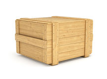 box isolated wooden 图库摄影