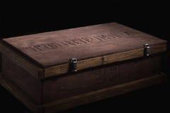 box isolated wooden Στοκ εικόνα με δικαίωμα ελεύθερης χρήσης