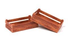 box isolated wooden Стоковые Фото