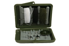 Box with items for sewing Stock Image