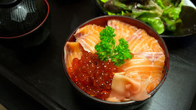box japanska mackerels för mat, ut som rå stil tar tre Royaltyfri Foto