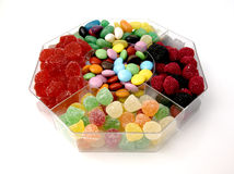 Box Jellies. Jellies box of various shapes and colors Stock Photos