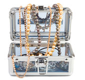 Box with jewelry royalty free stock photos