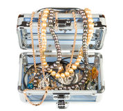Box with jewelry Royalty Free Stock Images