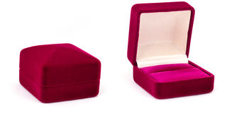 Box for jewelry. Elegant box for jewelry. Empty box for a romantic gift Stock Images