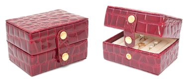 Box for Jewerly isolated Royalty Free Stock Photos