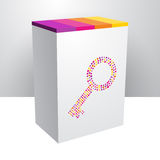 Box with key Royalty Free Stock Photos