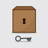 Box Keyhole Key Royalty Free Stock Image