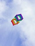 Box kite blue skies Royalty Free Stock Photography