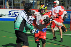 Box lacrosse in Prague Royalty Free Stock Images