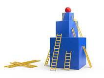 Box with a ladders. The development concept Stock Photos