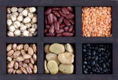 Box with legumes Stock Photography