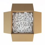 Box with letters Royalty Free Stock Image