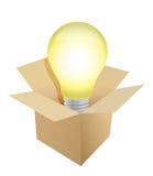 Box and Light Bulb illustration royalty free illustration