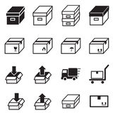 Box & Logistic delivery icons. Royalty Free Stock Image
