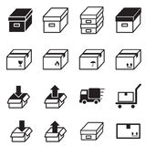 Box & Logistic delivery icons. Vector illustration Symbol Royalty Free Stock Image